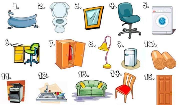 100+ Từ vựng Tiếng Anh đồ dùng trong nhà, Chủ đề đồ dùng 2