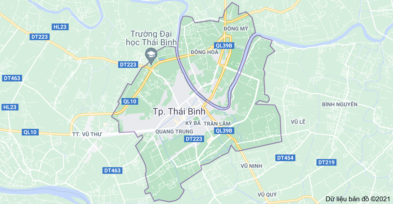 Tỉnh Thái Bình có bao nhiêu thành phố, huyện, phường, xã, thị trấn